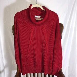 Calvin Klein Pretty Cable Knit Sweater, NWT